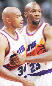 Wayman Tisdale With Charles Barkley During the Mid-90's