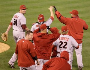 The D-Backs Celebrate 4 Straight Like It Was the World Series
