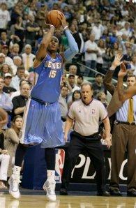 Carmelo Anthony Hits the Game Winning Three Despite Rick Carlisle's Hands-Up Defense