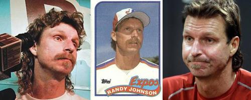 The Many Faces Of Randy Johnson: Annoyed, Indifferent, and, Exasperated.